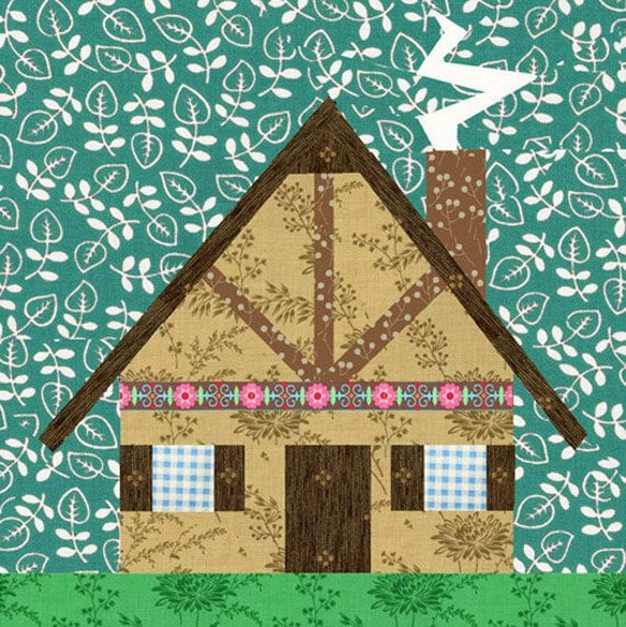 Grandma S House Quilt Block Paper Pieced Quilt Pattern