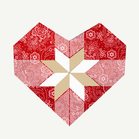 Sweet Heart Paper Pieced Quilt Block Pattern Pdf