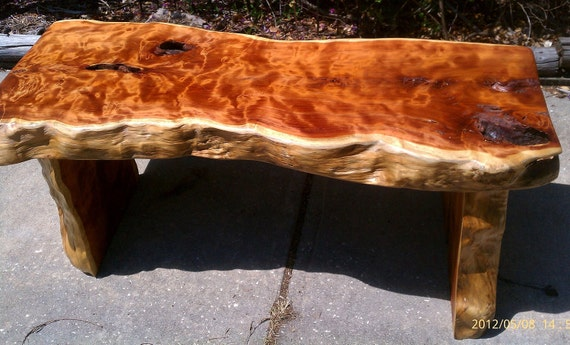 Private Listing for Rose: Live-Edge Eastern Cedar Dining Bench