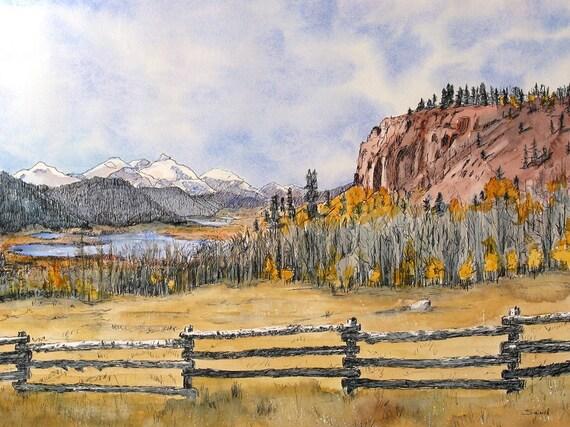 Colorado Mountain Scene Mountain Lake 1 A Decorative