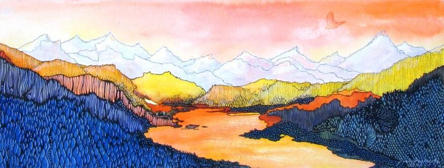 Sunset Over A Colorado Mountain Lake Wolf Lake 7 A Fine