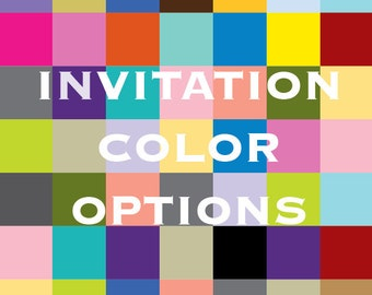 Invitation Color Options for Pocketfold and Ink