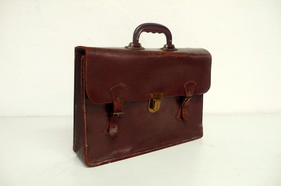 Classic Vintage leather briefcase portfolio