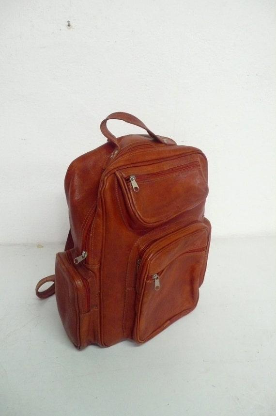 Vintage   leather back pack