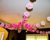Party pom garland, Wedding garland decoration, baby shower garland decoration, birthday party garland decoration - you pick your colors