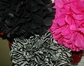 Bachelorette decorations -FREE CONFETTI!! - Hot Pink, zebra pom decor -birthday, bridal shower, sweet sixteen tissue poms -6 medium pom pack