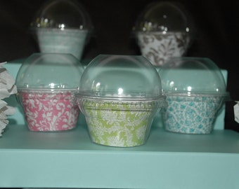 Clear cupcake favor container kit - Set of 25