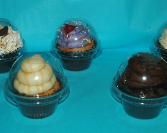 Wedding Favor containers - Clear cupcake favor container kit - Set of 200 - FREE SHIPPING