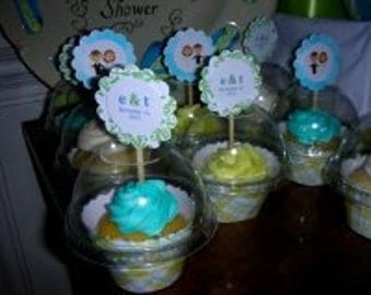 Favor container  - Cupcake Containers for Birthday/wedding/shower - Set of 200 - open dome - FREE SHIPPING
