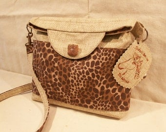 Small Brown Print Purse by My Spirit Horse Designs