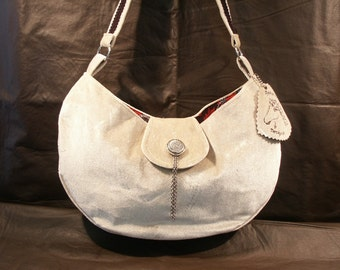 Gray Hobo-Style Purse by My Spirit Horse Designs