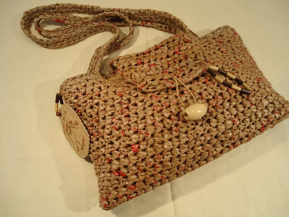 Large Brown Recycled Bags Purse by My Sprirt Horse Designs
