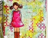 Olivia - Original Mixed Media Painting