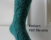 Knit Pattern for Women's Socks - San Marco