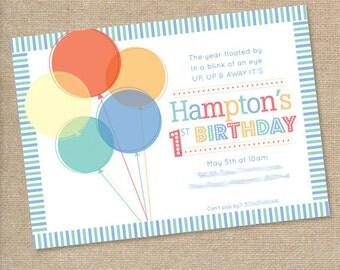 Balloon Birthday Party Invitation