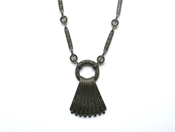 Theodor Fahrner Deco Silver and Marcasite Necklace