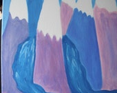 Pastel Mountain Overflow / original acrylic painting / stretched canvas