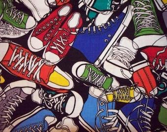 Tennis Shoe Piles Cotton Fabric Fat Quarter or  Custom Listing