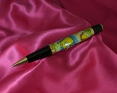 "Handmade Wall St Pen with Genuine ""Simpson"" Series USPS Postage Stamps"