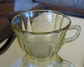 Madrid Depression Glass Teacup & Saucer