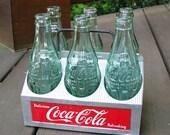 Coca-Cola Aluminum Bottle Carrier & Bottles
