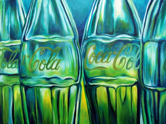 Original oil painting, Vintage Coca-Cola - ready to hang decor 18x24