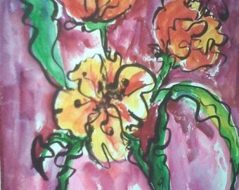 Red, Yellow, and Orange BRIGHT Tulips
