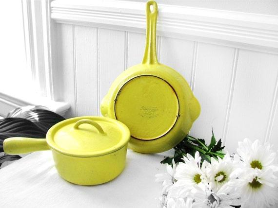 1950s Descoware Pot and Pan