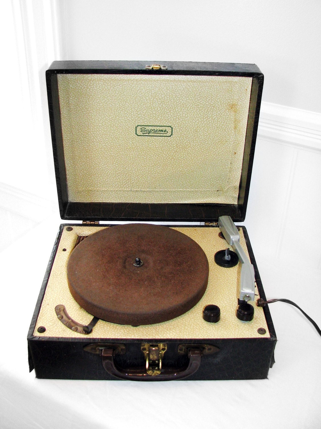 Vintage Portable Record Player By Supreme