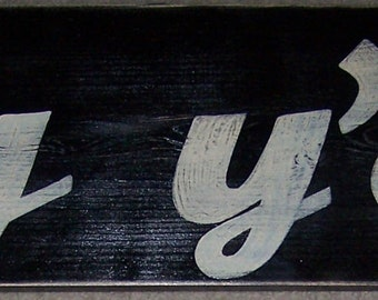 hey y'all Sign Southern WELCOME Country Slang Saying Home Wall Art Plaque Wood 30x7