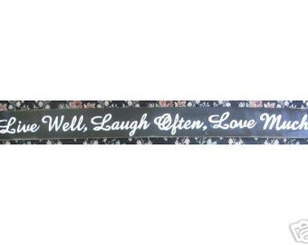 Live Well Laugh Often Love Much XL Sign Plaque Wall Art Oversized Wooden You Pick from 10+ Colors Hand Painted 59""