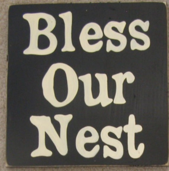 Bless Our Nest Spring Easter Plaque Sign Wall Decor Wood HP