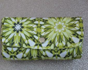 Foldup Shopping Bag- Lime green geometric print tote bag, market tote