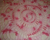 Vintage Crocheted Pink doily