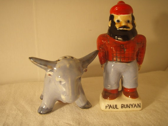 Vintage Paul Bunyan Salt and Pepper shakers