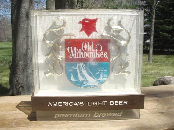 Vintage Old Milwaukee Beer Bar Sign