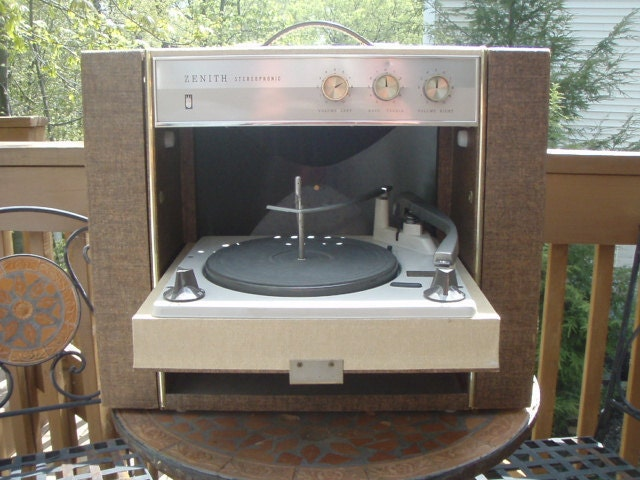 Vintage Zenith Stereophonic Portable Record Player