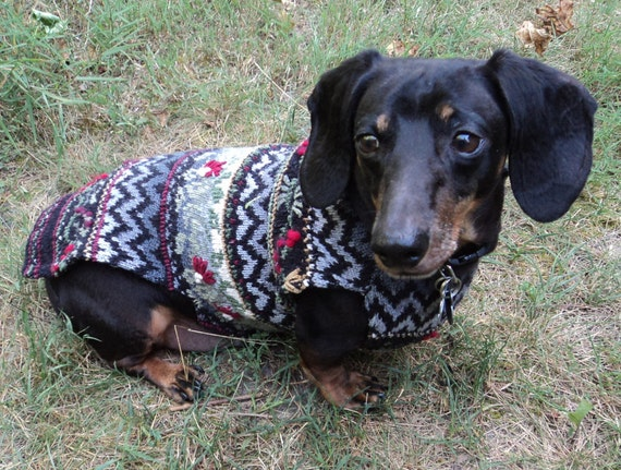 Christmas Dog Sweater For Dachshunds Silk Blend Made To Fit