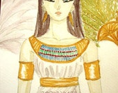 ACEO Print of Queen of the Nile A5