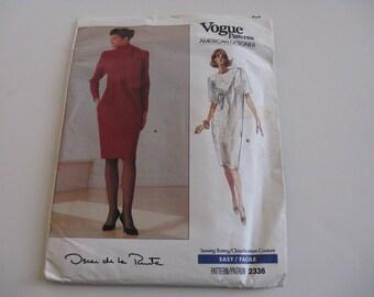 Vintage Vogue Oscar de la Renta pattern 2336
