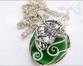 Green fairy pendant