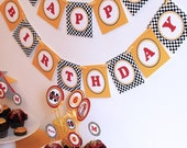 DIY Printable Birthday Party Banner - Power Race Party Collection - Download and Print Digital JPEG Images