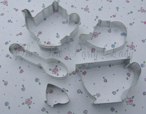 Tea Party Cookie Cutters