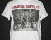 Vampire Weekend American Indie Rock White Unisex Man T-Shirt Size L