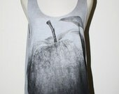 Apple Bleached Grey Tank Top  Singlet Sleeveless Women Art Punk Rock T-Shirt Size S