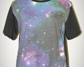 Star Cluster Universe Black Punk Rock Unisex T-Shirt Size M