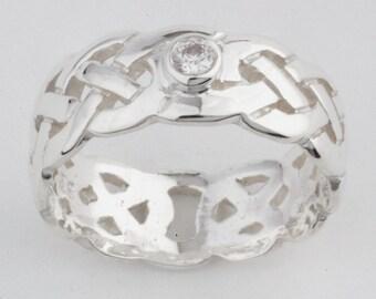 Celtic Ring birthstone Sterling Silver