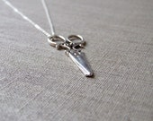 SALE Silver Scissor Necklace. Large  Scissors Pendant. Large Silver Scissor Necklace. Antique Silver Scissor.  Mothers Day Gifts under 20
