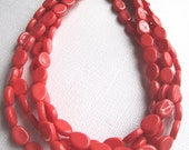 Coral and Chain Multistrand Necklace