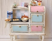 RESERVED Kitchen with accessories for dollhouses. scale 1:12